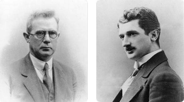 Harald and Thorvald Pedersen, co-founders of Novo Nordisk