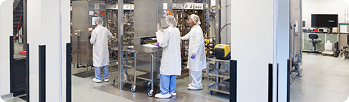 Employees working at a Novo Nordisk Research Center