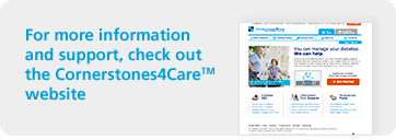 Click to visit Cornerstones4Care® website for diabetes information and support