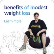 Learn about the benefits of modest weight loss