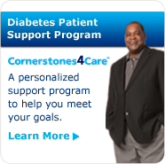 Learn about Cornerstones4Care®, a free diabetes patient support program to help you meet your goals