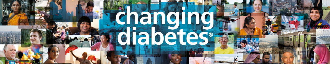 Photo collage of people affected by diabetes