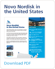 PDF with information about Novo Nordisk in the U.S.