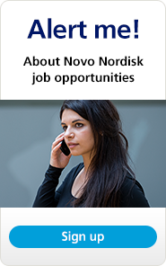 Novo Nordisk job opportunities alert sign up graphic