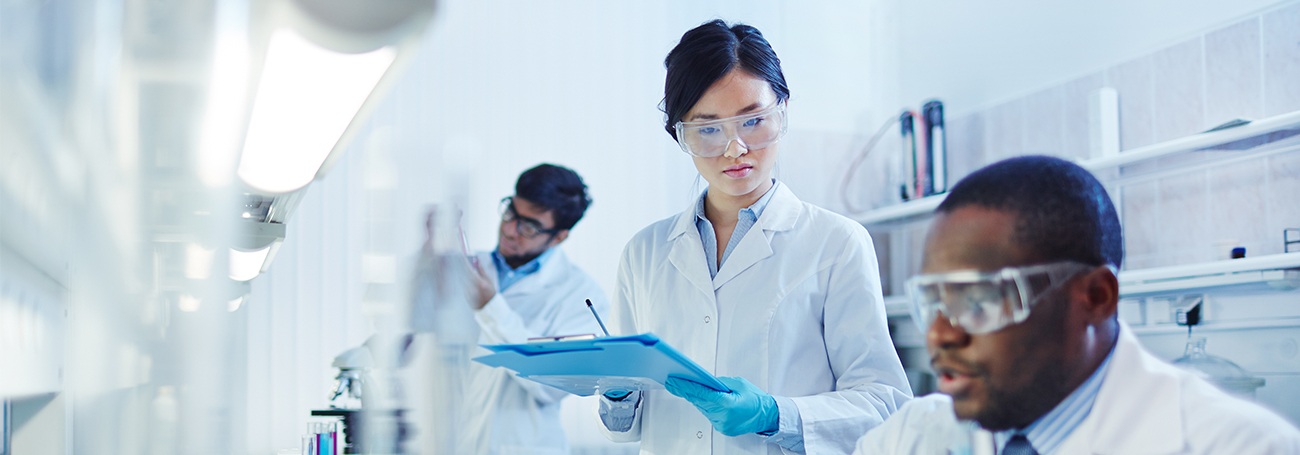 Medical researchers in a science lab